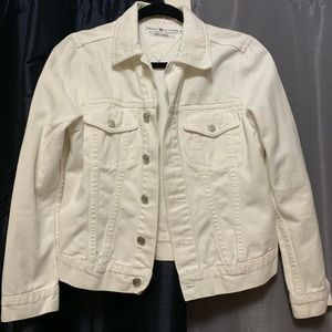 90s white jean jacket